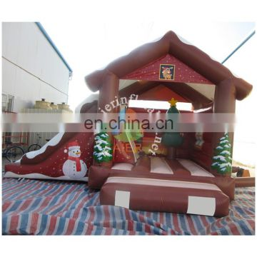 2016 hot sale cheaper china christmas themed inflatable bouncer slide for kids and adult