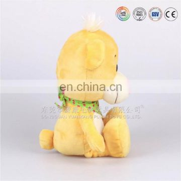 Custom plush yellow lovely baby teddy bear souvenir