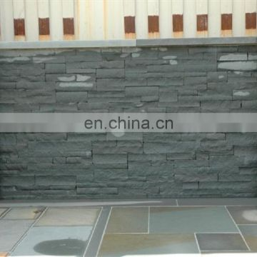 Light black sandstone wall panel