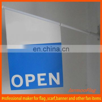 custom advertising wall mounted flag