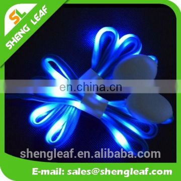 Novelty Flashing LED lanyard Computer engraving logo led shoelace