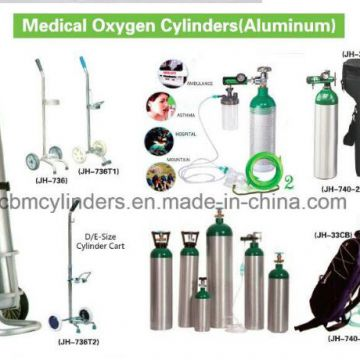 Portable Oxygen Cylinder Carts for Small Gas Cylinders