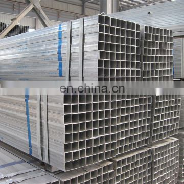 galvanize steel pipe with square rectangular shape