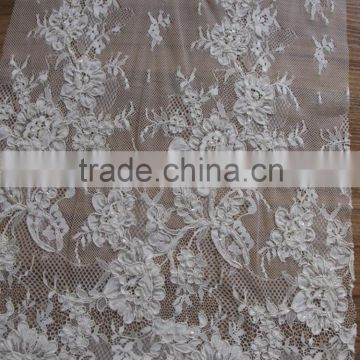 royalblue French Net Lace Fabric Tulle Lace For Wedding with rhinestones/beaded embroidery bridal laces fabrics/korean lace                                                                         Quality Choice