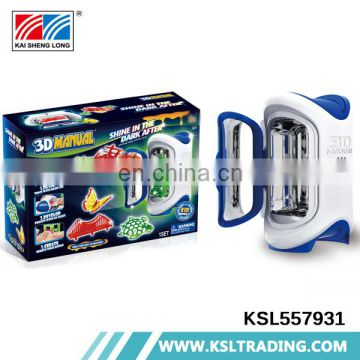 Hot selling intellectual diy model toy play game children 3d printer machine