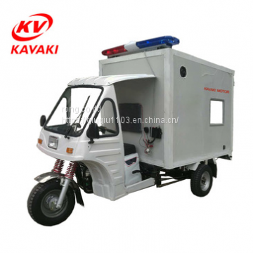 kavaki supply hospital ambulance tricycle with 250cc air cooled engine