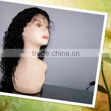 14 inches Water wave #1B 100% Indian remy human hair lace wigs accept customer order
