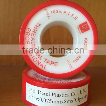 China supply PTFE Plumbers Tape for Gas Pipe