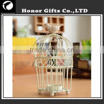 Handmade Bird House Decorative High Quality Metal Wire Candle Holder