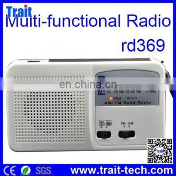 RD-369 Fashion Design Portable Mini Solar Radio with Torch