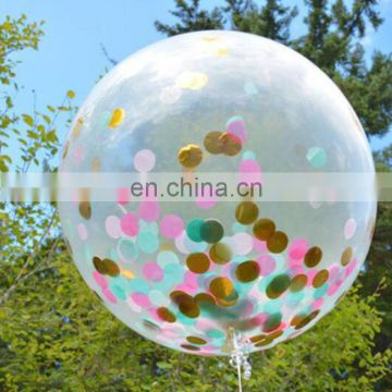 confetti balloon 12 inch 36 inch clear transparent wedding party confetti balloon