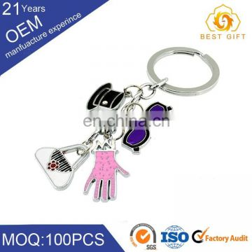 Personalized metal diamond alphabet letters keychain