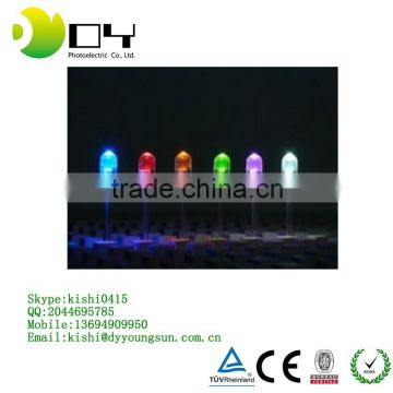RGB LED Common Anode/Common Cathode 4-Pin Tri-Color Emitting Diodes Water Clear Diffused