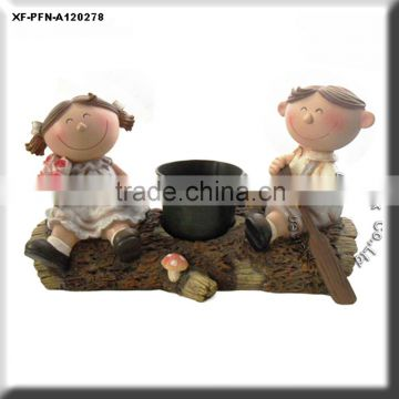 lovely polyresin boy & girl figurine