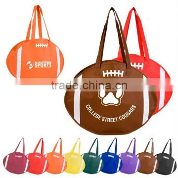 Rugby shape shopping bag