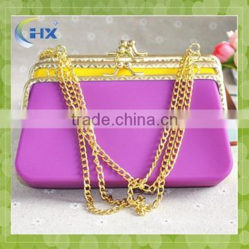 Latest branded silicone candy color wholesale jelly handbags wholesale