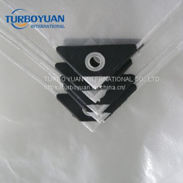 reinforced transparent PE woven film to cover from rain