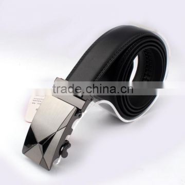 Low MOQ wholesale high quality 100% genuine leather belts for men auto buckle belt leather