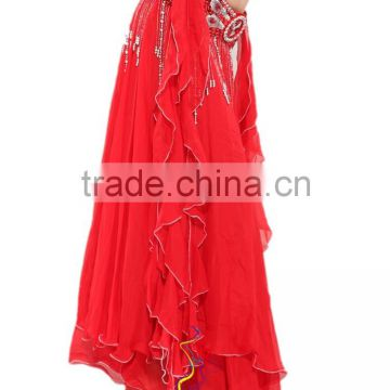 SWEGAL sexy fashion red Swing dress,belly dance gorgeous expansion skirt,belly dance skirt SGBDS13015