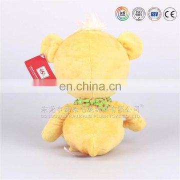 New Arrivals Cute Yellow Plush Small Teddy Bear Stuffed Toys