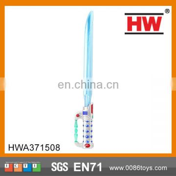 52 cm spray painting handle blue light musical light sword