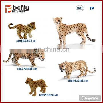 5 different size plastic PVC wild animal leopard toy for sale