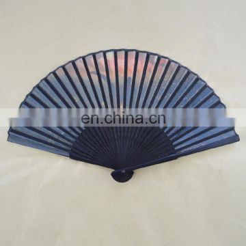 21cmL promotional custom design nylon folding fan
