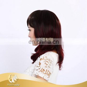 2015 Hot Beauty 150g high-temperature synthetic and human hair mix lace wig