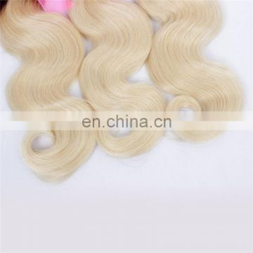 Factory wholesale human hair weave two tone color 1B#/613# peruvian virgin hair extension