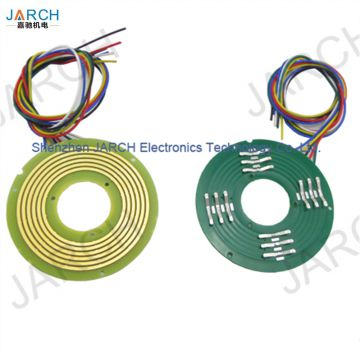 Thinest 5mm pancake slip rings , panshi flat electrical slip rings