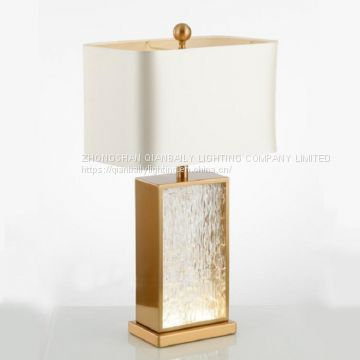 LUXURY FABRIC COVER TABLE LAMP MODERN CRYSTAL TABLE LIGHTING FOR LIVING ROOM BEDROOM