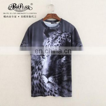 2017 Peijiaxin Latest Design Casual Style Boys Full Animal Printed 3D T-shirt