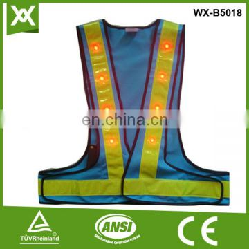 Factory made 100%polyester mesh /knit reflective tape work blue safety reflective jacket