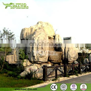 Artificial Rockery as Signboard