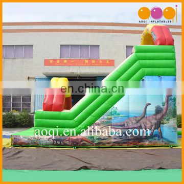 toys for kids playground dinosaur inflatable slide with the painting