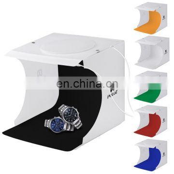 Wholesale Drop Shipping Studio,Light box, Shooting Tent,with 40 LED Color,Temperature 6000-6500K,6 Colors Backdrops,1100LM Si