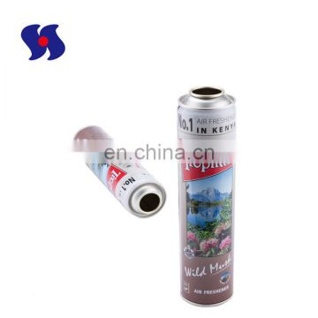 Personal Care Usagel Diameter 52mm Empty Aerosol Tin Can with 4 Colors Printing 400ml