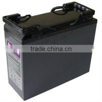 12v lead crystal battery 55ah front terminal battery 50ah