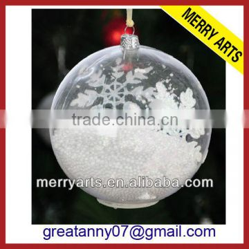 China Factory Sale Cheap Clear Glass Christmas Ornaments Balls Transparent Christmas Decoration Glass Ball Wholesale