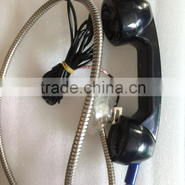 3.5 jeck telephone handset jack T6 intercom Phone auto dia emergency telephone Armoured cord line