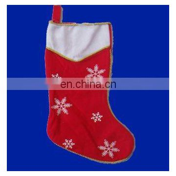 Promotional plush Christmas Stocking with snow