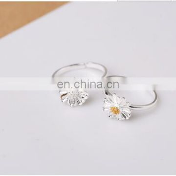 S925silver daisy flower ring fashion female ring China suppliers