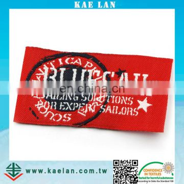 Customized high density woven label for clothing