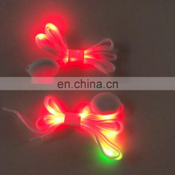 2017 Top selling kid gift flashing lace LED shoelaces for Christmas