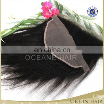 Top grade virgin soft remy unprocessed cheap silk base closures lace frontal