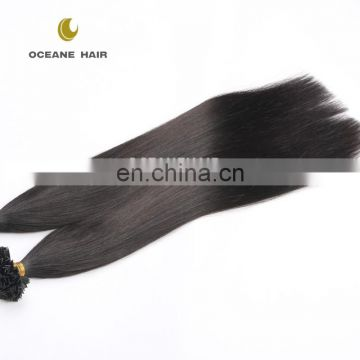 pre bonded hair extension double drawn V tip hair extension