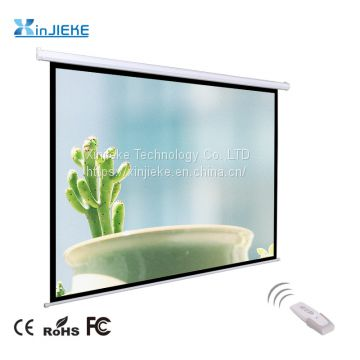4:3 Format Remote Control Electric / Motorized Projector Projection Screen