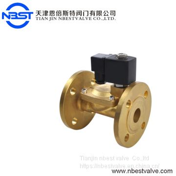 DN100 4inch Brass Pilot operated diaphragm flange connection solenoid valve