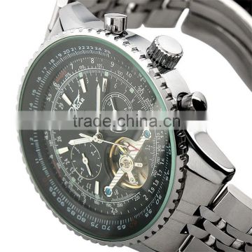 Jargar Gent Black Tourbillon Date Automatic Watches Men/Watches Men Automatic Transparent WM141