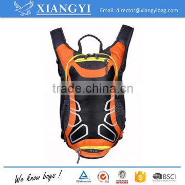 Humanized design light weight water resistant portable orange color hydration backpack sport cycling water backpack